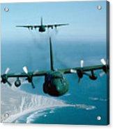 A Pair Of C-130 Hercules In Flight Acrylic Print