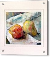 A Pair Of Pears Acrylic Print