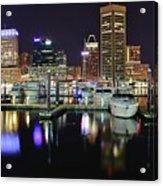 A Panoramic Baltimore Night Acrylic Print