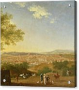 A Panoramic View Of Florence From Bellosguardo Acrylic Print