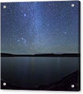 A Panoramic View Of The Milky Way Acrylic Print