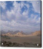 A Panoramic View Of The Wadi Rum Region Acrylic Print by Gordon Wiltsie
