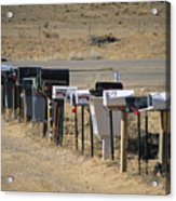 A Parade Of Mailboxes On The Outskirts Acrylic Print by Stephen St. John