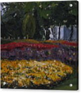 A Park In Cambrige Acrylic Print