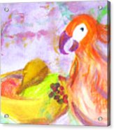 A Parrot And The Passion Fruit Acrylic Print