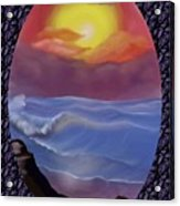 A Pastel Seascape  Acrylic Print