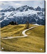 A Path In The Dolomites - Alta Badia, Italy - Landscape Photogra Acrylic Print