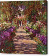 A Pathway In Monets Garden Giverny Acrylic Print by Claude Monet