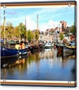 A Peaceful Canal Scene - The Netherlands L A S With Decorative Ornate Printed Frame. Acrylic Print
