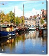 A Peaceful Canal Scene - The Netherlands L B Acrylic Print