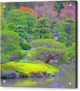 A Peaceful Garden Acrylic Print
