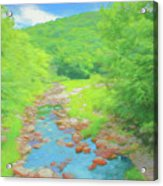 A Peaceful Summer Day In Southern Vermont. Acrylic Print