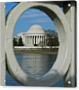 A Peek At The Jefferson Memorial Acrylic Print