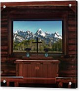 A Pew With A View Acrylic Print