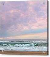 Panoramic Photograph Of A Peaceful Sunrise At Lake St Lucia In South Africa Acrylic Print