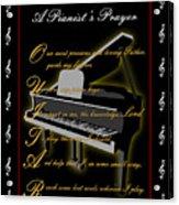 A Pianists Prayer_1 Acrylic Print by Joe Greenidge