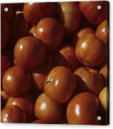 A Pile Of Tomatoes Stand Waiting Acrylic Print by Taylor S. Kennedy