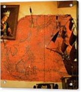 A Pirates Map Room Acrylic Print