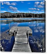 A Place To Dock On The Moose Acrylic Print