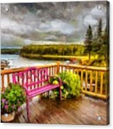 A Place To Relax And Enjoy Acrylic Print