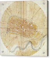 A Plan Of Imola Acrylic Print