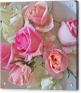 A Plate Of Roses Acrylic Print