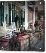 A Porch On The Bay Acrylic Print