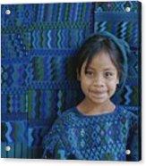 A Portrait Of A Guatemalan Girl Acrylic Print by Raul Touzon