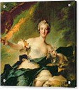 A Portrait Of Anne Josephe Bonnnier De La Mossau  Acrylic Print
