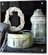 A Pulley And A Lamp Acrylic Print