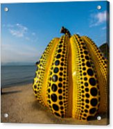 The Pumpkin Of Naoshima Acrylic Print