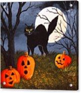 A Purrfect Halloween Acrylic Print