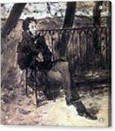 A Pushkin On A Garden Bench 1899 Valentin Serov Acrylic Print