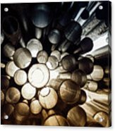 A Question Of Perspective On Sibelius Monument Acrylic Print