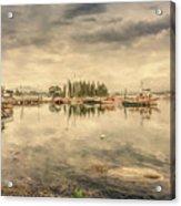 A Quiet Little Harbor Acrylic Print