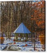 A Quiet Place-fall Time-winter Acrylic Print