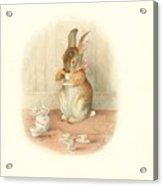 A Rabbit's Tea Party Acrylic Print