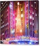 A Radio City Music Hall Christmas Acrylic Print