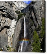 A Rainbow Emanating From Yosemite Falls Acrylic Print