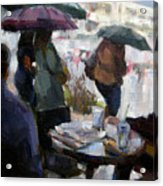 A Rainy Day At Starbucks Acrylic Print