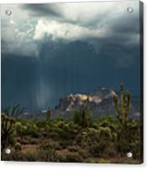 A Rainy Evening In The Superstitions  Acrylic Print