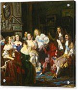 A Reading By Madame De Sevigne Acrylic Print