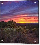 A Red Hot Desert Sunset Acrylic Print