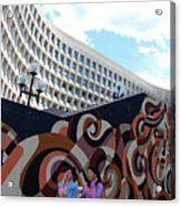 A Mural At L'enfant Plaza Acrylic Print