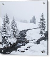 A River And Winter Landscape In Austria Acrylic Print