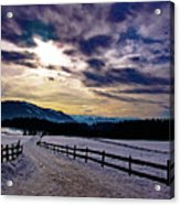 A Road To The Future Acrylic Print