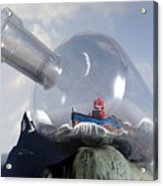 A Robot In A Bottle Acrylic Print by Michael Knight