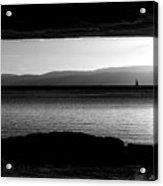 A Rock At Freycinet Bw Acrylic Print