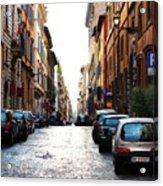 A Rome Street Acrylic Print