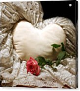 A Rose And A Heart Acrylic Print